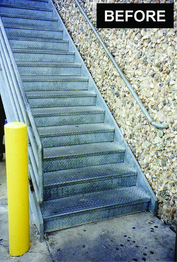 SLIPPERY STAIRS