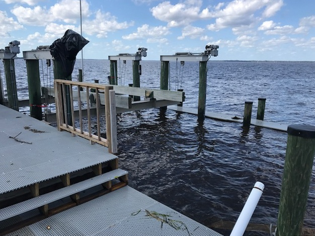 FRP Dock Survives Hurricane Irma